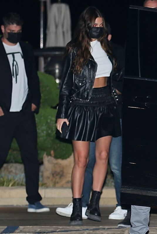 CAMILA MORRONE and Leonardo Dicaprio Night Out in Malibu 10/15/2020