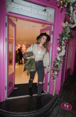 CANDICE BROWN at Private View of Sophie Tea Art in London 10/28/2020