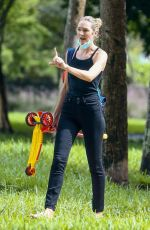 CANDICE SWANEPOEL Out at a Park in Miami Beach 10/25/2020