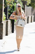 CAPRICE BOURRET Heading to the Set of The Gift in London 09/29/2020