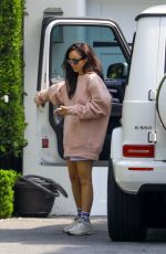 CARA SANTANA Arrives at Her Home in Beverly Hills 10/08/2020