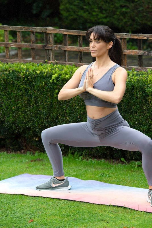 CASEY BATCHELOR at Yoga Workout in London 10/20/2020