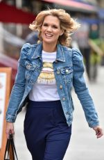 CHARLOTTE HAWKINS Arrives at Her Classic FM Radio Show in London 10/16/2020