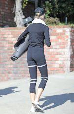 CHARLOTTE MCKINNEY in Tights Workout in Malibu 10/12/2020