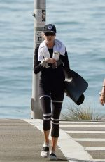 CHARLOTTE MCKINNEY Out at a Beach in Los Angeles 10/12/2020