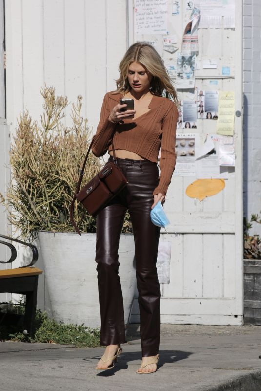 CHARLOTTE MCKINNEY Out in Los Angeles 10/27/2020