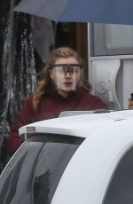 CHLOE MORETZ Leaves Her Trailer at Mother/Android Set in Boston 10/10/2020