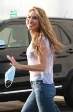 CHRISHELL STAUSE in Denim Arrives at DWTS Studio in Los Angeles 10/16/2020