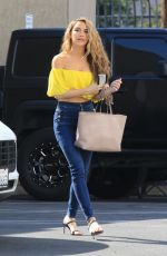 CHRISHELL STUASE in Denim Arrives at Dance Rehersal in Los Angeles 10/27/2020