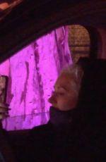 CHRISTINA AGUILERA Arrives at Haunt 'O Ween LA in Canoga Park 10/09/2020