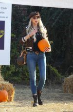CHRISTINE QUINN at a Pumpkin Patch in Hollywood 10/22/2020