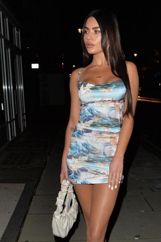 CHYNA ELLIS at Meraki Restaurant in London 10/22/2020