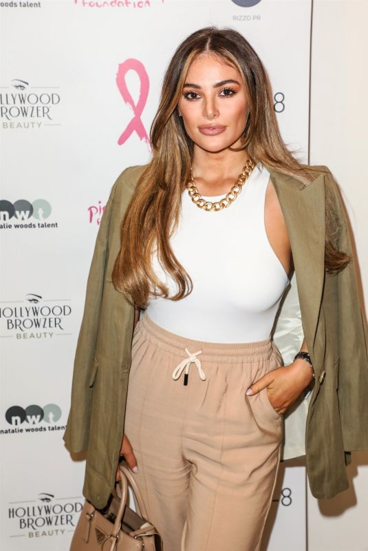 COURTNEY GREEN at Beauty Brand Hollywood Browzer Celebrates Breast Cancer in London 10/12/2020