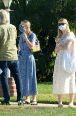 DAKOTA and ELLE FANNING Out House Hunting in Burbank 10/11/2020