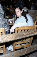 DANIELLE BREGOLI Out for Dinner at Saddle Ranch in West Hollywood 10/28/2020