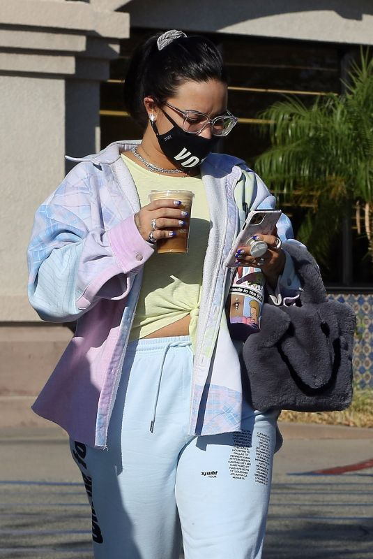 DEMI LOVATO Out and About in Los Angeles 10/13/2020