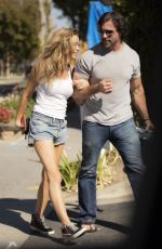 DENISE RICHARDS and Aaron Phypers Out in Calabasas 10/15/2020