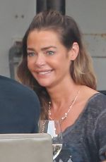 DENISE RICHARDS Out for Dinner with Friends in Malibu 10/02/2020