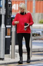 DENISE VAN OUTEN Arrives at Dancing on Ice Rehersal in Essex 10/15/2020