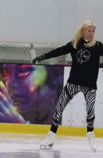 DENISE VAN OUTEN at Dancing on Ice Rehersal in London 10/21/2020