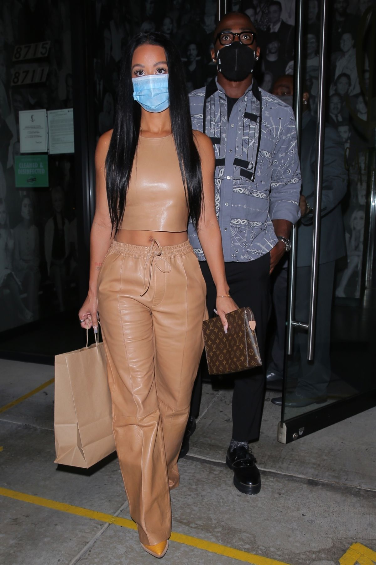 DRAYA MICHELE and Tyrod Taylor Out for Dinner in West ...
