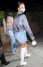 DRAYA MICHELE Arrives at LA Lakers Championship Party in West Hollywood 10/20/2020