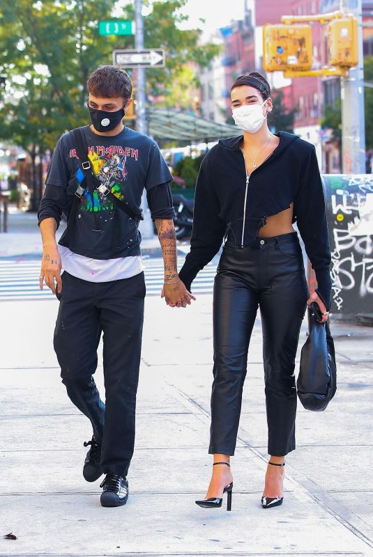 DUA LIPA and Anwar Hadid  Out in New York 10/09/2020