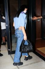 DUA LIPA Arrives at Gigi Hadid