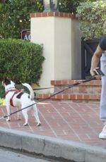 ELISABETTA CANALIS Out with Her Dogs in West Hollywood 10/14/2020