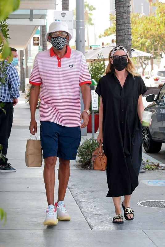 ELLEN POMPEO and Chris Ivery at E Baldi in Beverly Hills 10/07/2020
