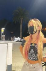 EMILY SKINNER at a Gas Station - Instagram photos 10/09/2020