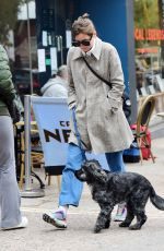 EMMA CORRIN Out with Her Dog in London 10/18/2020