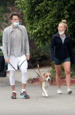 FLORENCE PUGH and Zach Braff Out with Their Dog in Los Angeles 10/23/2020