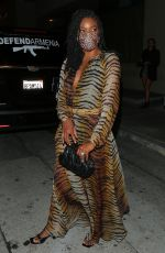 GABRIELLE UNION Out for Dinner in West Hollywood 10/17/2020