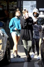 HAILEY BIEBER and JUSTINE SKYE Heading to a Gym in West Hollywood 10/14/2020