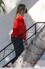 HAILEY BIEBER Arrives at a Salon in West Hollywood 10/01/2020