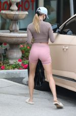 HAILEY BIEBER in Tights Out and About in West Hollywood 10/21/2020