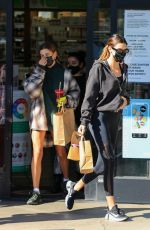 HAILEY BIEBER, KENDALL JENNER and JUSTINE SKYE at Earth Bar in West Hollywood 10/27/2020