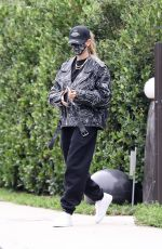 HAILEY BIEBER Leaves a Friend
