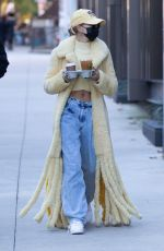 HAILEY BIEBER Out for a Coffee in Los Angeles 10/17/2020