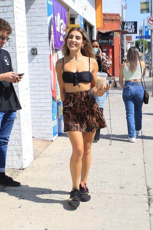 HANA GIRALDO Out on Melrose Avenue in Los Angeles 10/03/2020