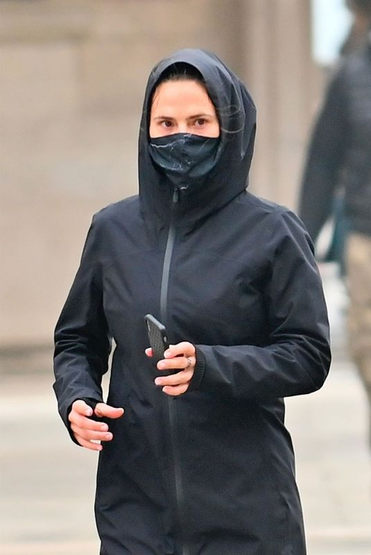 HAYLEY ATWELL Out Jogging in Venice 10/22/2020