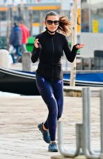 HAYLEY ATWELL Out Jogging in Venice 10/29/2020