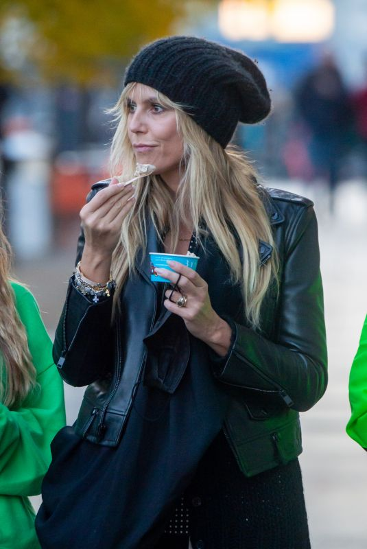 HEIDI KLUM Out and About in Berlin 10/25/2020