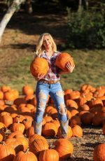 HEIDI MONTAG at a Pumpkin Patch in Los Angeles 10/15/2020