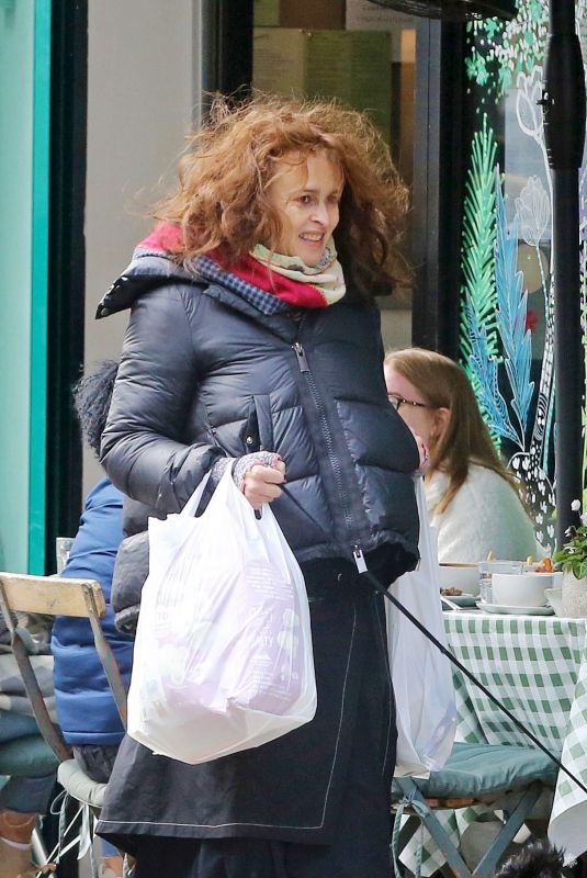 HELENA BONHAM CARTER Out Shopping in London 09/26/2020