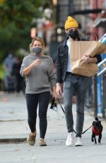 HILARY DUFF and Matthew Koma Out with Their Dog in New York 10/24/2020
