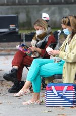 HILARY DUFF, SARA FOSTER and MOLLY BERNARD on the Set of Younger in New York 10/22/2020
