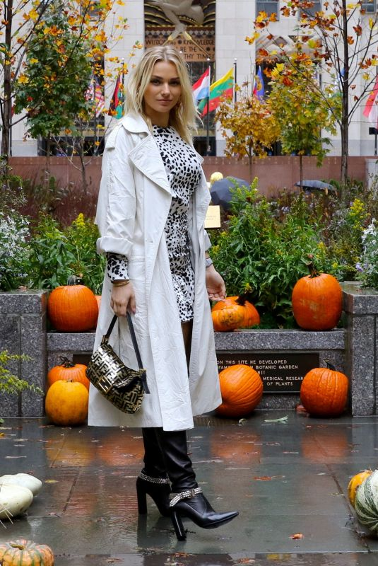 IRINA BAEVA Out and About in New York 10/13/2020