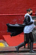 IRINA SHAYK Out on Rainy Day in New York 10/31/2020